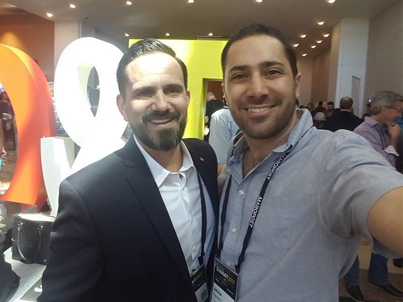 Frank Cowell from Elevator Agency and Jaime NAcach from Bloominari