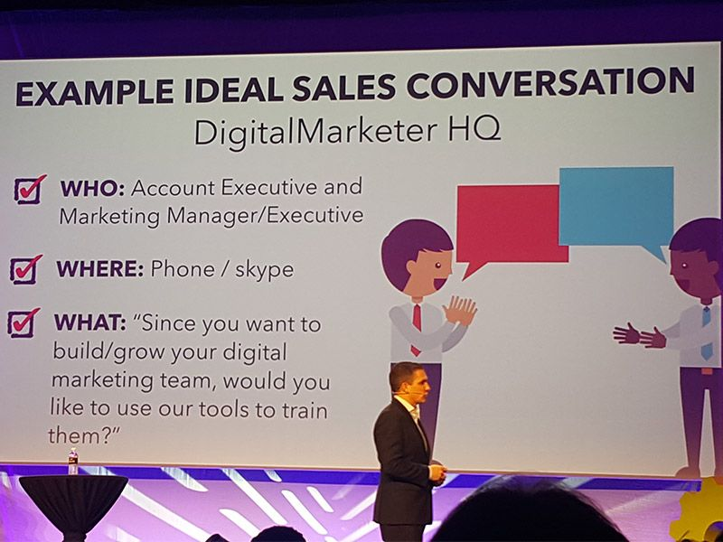Develop ideal conversation for marketing and sales