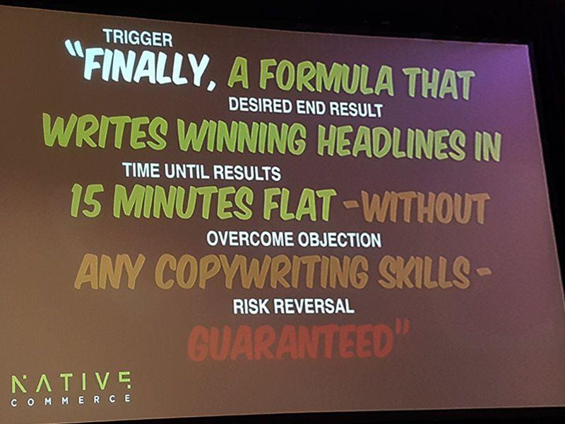 Winning formula headlines