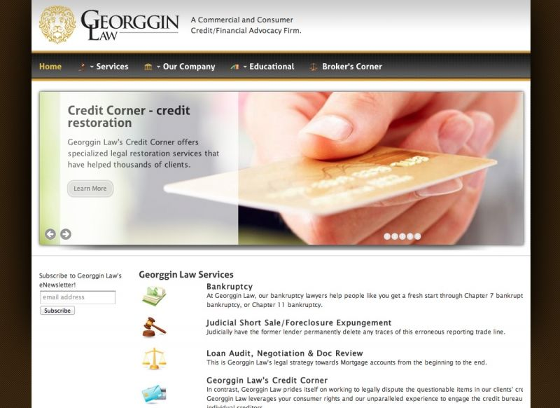 Georggin Law Website