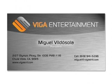 Viga Entertainment Business Card