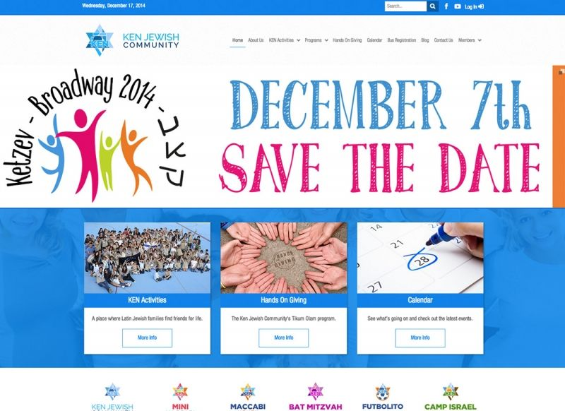 KEN Jewish Community's Website