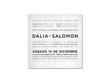 Dalia & Salo Wedding Invitation