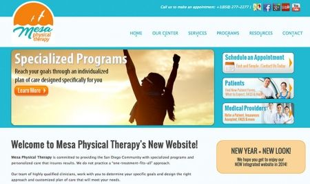 New Website: Mesa Physical Therapy!