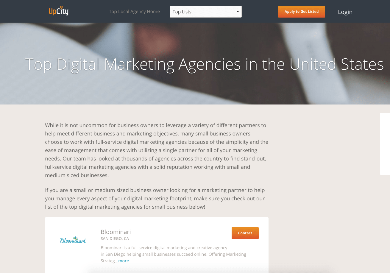 bloominari san diego top 15 ditital marketing agencies united states