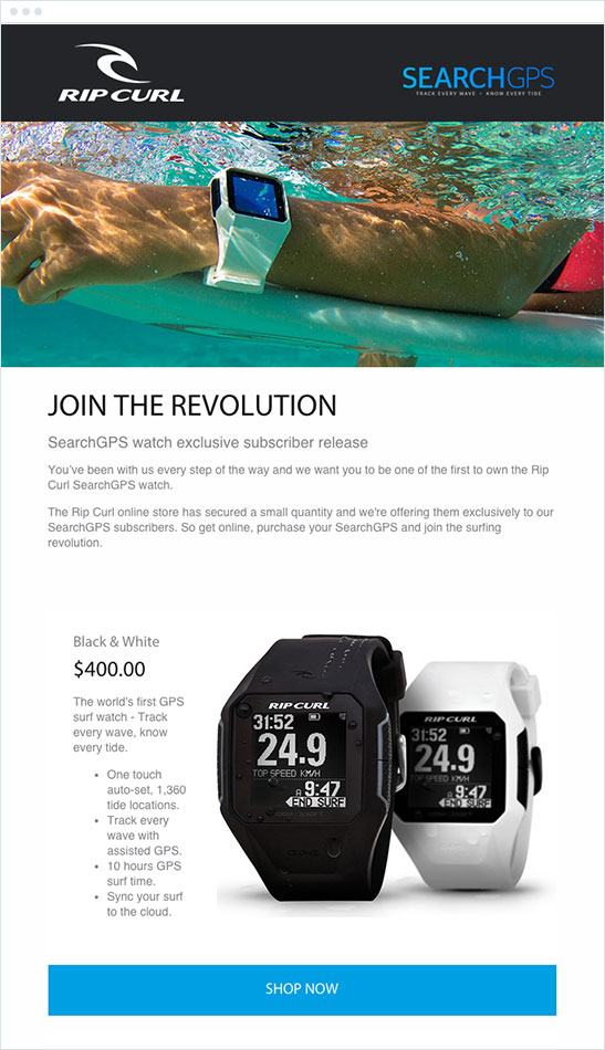 Rip Curl Email