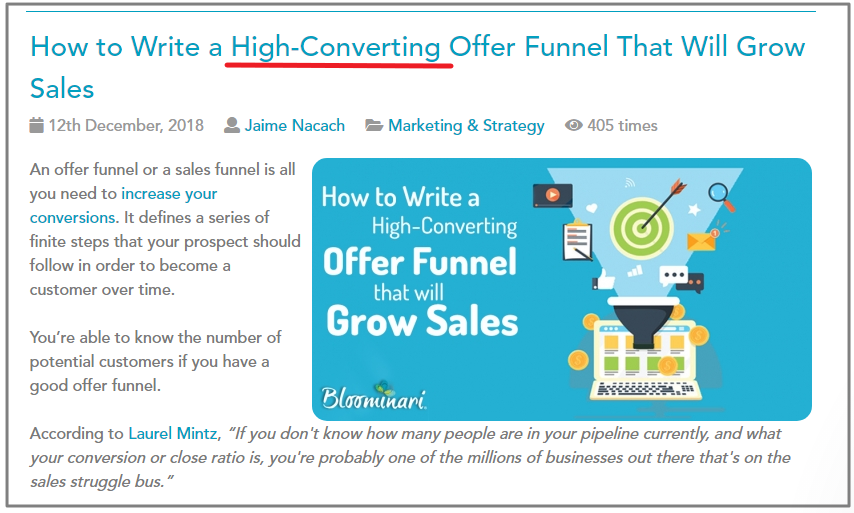 Offer Funnel to Grow Sales