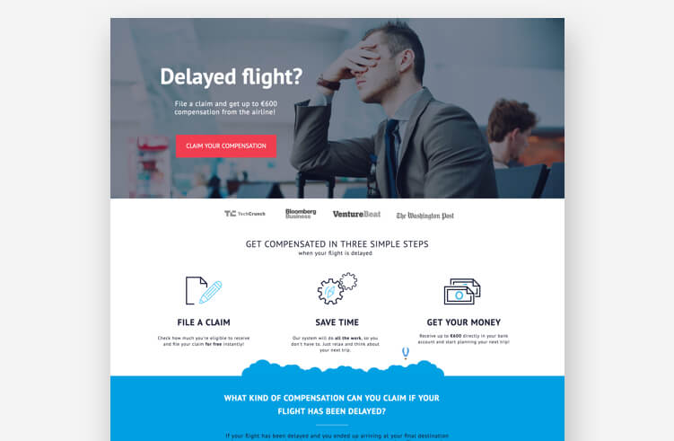 ClaimCompass Landing Page