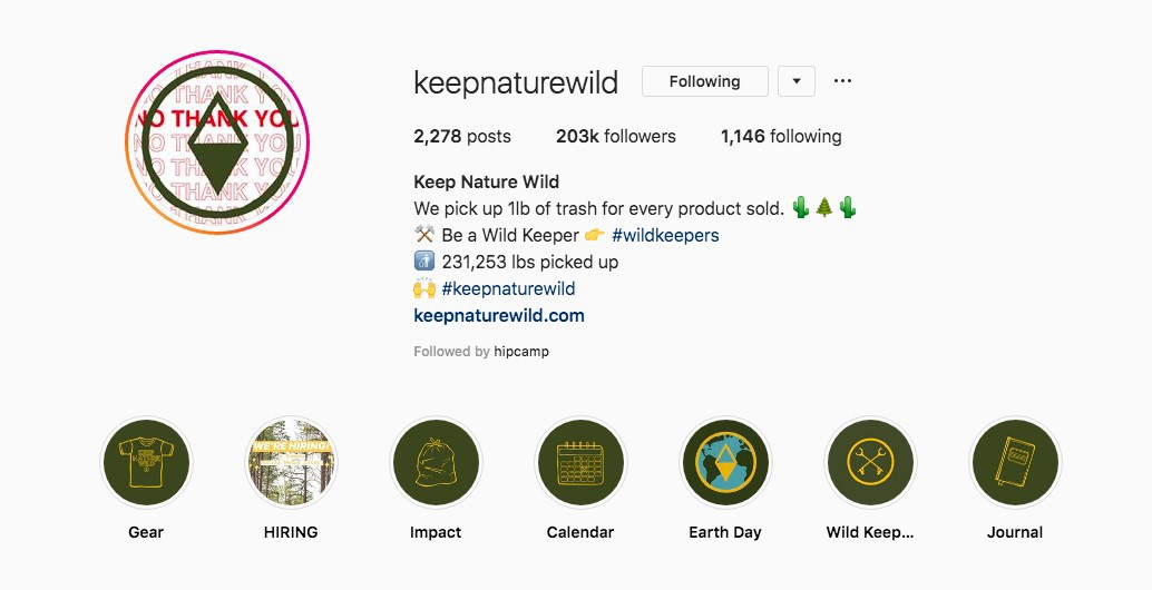 Keep Nature Wild Instagram
