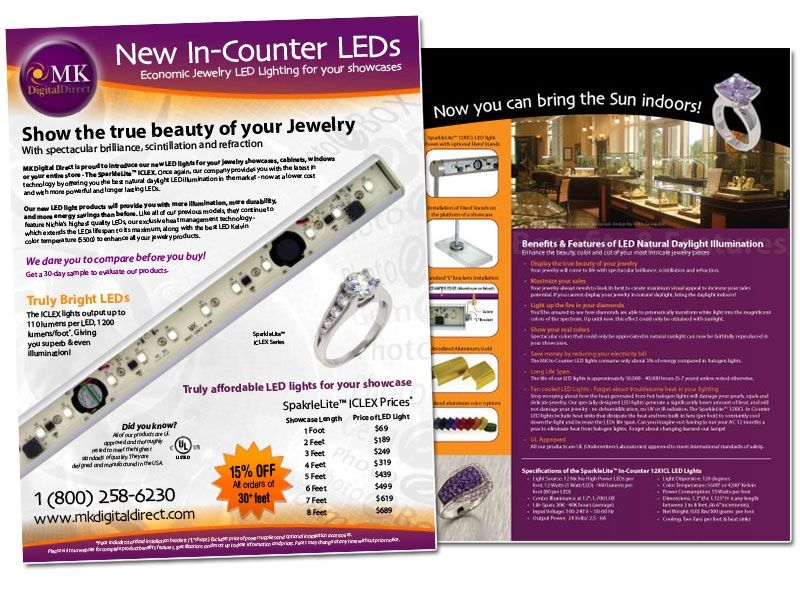 MK Digital LED lighting flyer