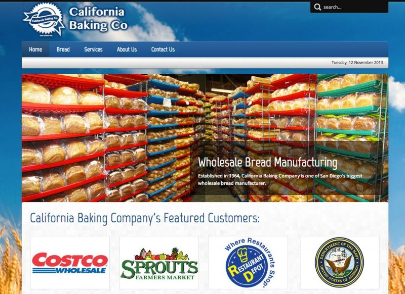 California Baking Company Website